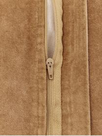 Groot fluwelen zitkussen Runda, Oudroze, Ø 60 x H 6 cm