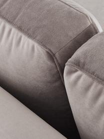 Szezlong z aksamitu z nogami z drewna bukowego Alva, Tapicerka: aksamit (wysokiej jakości, Nogi: lite drewno bukowe, barwi, Aksamitny taupe, S 193 x G 94 cm