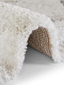 Flauschiger Hochflor-Teppich Mayrin mit marmoriertem Muster, Flor: 100% Polypropylen, Cremefarben, Grau, B 160 x L 230 cm (Größe M)