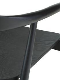 Armlehnstuhl Angelina aus Massivholz, Sitzfläche: Sperrholz mit Eschenholzf, Gestell: Massives Eschenholz, lack, Schwarz, B 57 x T 57 cm