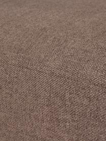 Fauteuil brun avec pieds en métal Fluente, Tissu brun
