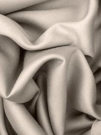 Baumwollsatin-Wendebettwäsche Julia in Taupe/Weiß, Webart: Satin Fadendichte 250 TC,, Weiß, Taupe, 155 x 220 cm + 1 Kissen 80 x 80 cm