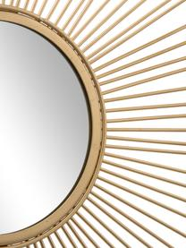 Sonnenspiegel Brooklyn mit Antikfinish, Rahmen: Metall, Spiegelfläche: Spiegelglas, Rahmen: GoldfarbenSpiegelfläche: Spiegelglas, Ø 50 cm