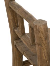 Panca in legno di teak Beachside, Legno di teak, finitura naturale, Colore teak, Larg. 80 x Alt. 64 cm