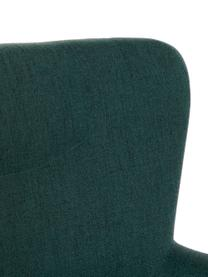 Poltrona con poggiapiedi in verde/oro Paula, Rivestimento: 100% poliestere, Gambe: metallo verniciato a polv, Verde, dorato, Larg. 67 x Alt. 70 cm
