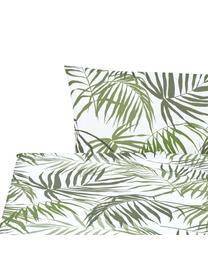 Set lenzuola in cotone Dalor, Cotone La parure copripiumino in cotone è piacevolmente morbida sulla pelle, assorbe bene l'umidità ed è adatta per chi soffre di allergie., Verde, bianco, 180 x 270 cm + 2 cuscini 50 x 80 cm