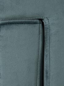 Poltrona in velluto Pete, Rivestimento: 100% velluto di poliester, Gambe: acciaio inossidabile, Verde scuro, nero, Larg. 67 x Prof. 74 cm