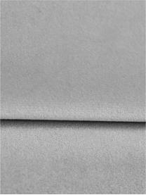 Samt-Schlafsofa Gia (3-Sitzer) in Hellgrau mit Holz-Füßen, ausklappbar, Bezug: Polyestersamt Der strapaz, Rahmen: Massives Kiefernholz, Korpus: Spanplatte, Sperrholz, Sp, Füße: Buchenholz, lackiert, Samt Hellgrau, B 212 x T 93 cm