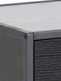Szafka nocna z szufladą Seaford, Korpus: płyta pilśniowa średniej , Stelaż: metal malowany proszkowo, Czarny, S 42 x W 63 cm