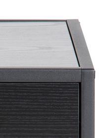 Nachttisch Seaford mit Schublade, Korpus: Mitteldichte Holzfaserpla, Gestell: Metall, pulverbeschichtet, Schwarz, 42 x 63 cm