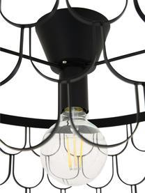 Plafoniera di design in argento Gatsby, Baldacchino: ottone verniciato, Nero, Ø 50 x Alt. 20 cm