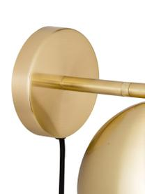 Wandleuchte Tamara mit Stecker, Leuchte: Metall, beschichtet, Messingfarben, Ø 21 x H 28 cm
