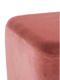 Samt-Polsterbank Harper, Bezug: Baumwollsamt, Fuß: Metall, pulverbeschichtet, Bezug: TerrakotaFuß: Goldfarben, matt, 140 x 45 cm
