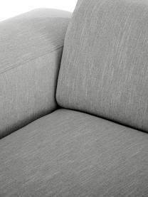 Hoekbank Melva (3-zits), Bekleding: polyester, Frame: massief grenenhout, spaan, Poten: grenenhout, Grijs, B 240 x D 144 cm
