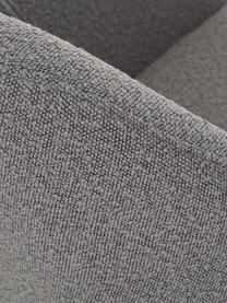 Poltrona in teddy Jana, Gambe: metallo verniciato a polv, Teddy grigio, Larg. 72 x Prof. 68 cm