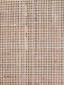 Mangoholz-Lowboard Larry mit Geflecht, Korpus: Mangoholz, Beine: Metall, lackiert, Braun, 140 x 55 cm