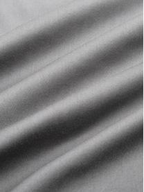 Pościel z organicznej satyny bawełnianej z lamówką Premium, Ciemny szary, 200 x 200 cm + 2 poduszki 80 x 80
