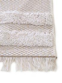 Waschbarer Baumwollteppich Oslo Diamonds mit Hoch-Tief-Struktur, 100% Baumwolle, Cremeweiß, Beige, B 190 x L 280 cm (Größe M)