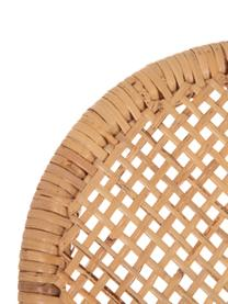 Silla de ratán Laia, Ratán con tejido de polipiel, Beige, An 61 x F 47 cm