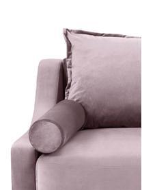 Sofa rozkładana z aksamitu z miejscem do przechowywania Lea (3-osobowa), Tapicerka: aksamit poliestrowy, Nogi: metal malowany proszkowo, Lawendowy, S 215 x G 94 cm
