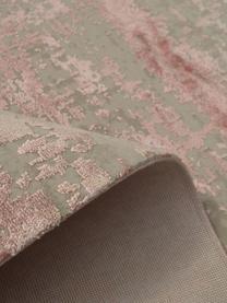 Alfombra con flecos Cordoba, estilo vintage, Parte superior: 70%acrílico, 30%viscosa, Reverso: algodón, Gris, rosa, An 130 x L 190 cm (Tamaño S)