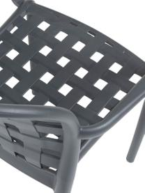 Krzesło ogrodow z tworzywa sztucznego Isa, 2 szt., Tworzywo sztuczne, Ciemny szary, S 58 x G 58 cm