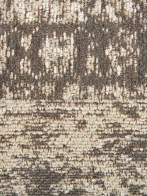 Cuscino da pavimento vintage Rebel, Rivestimento: 95% cotone, 5% poliestere, Grigio scuro, crema, Larg. 70 x Alt. 26 cm