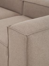 Modulaire XL chaise longue Lennon in bruin, Bekleding: 100% polyester De slijtva, Frame: massief grenenhout, multi, Poten: kunststof De poten bevind, Geweven stof bruin, 357 x 119 cm