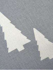Funda de cojín Tree, 100%algodón, tela Panamá, Gris, crudo, An 40 x L 40 cm