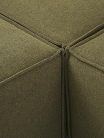 Modulare XL-Ottomane Lennon in Grün, Bezug: Polyester Der hochwertige, Gestell: Massives Kiefernholz, Spe, Füße: Kunststoff, Webstoff Grün, B 357 x T 119 cm