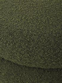 Bouclé bank Alto in groen, Bekleding: bouclé (100% polyester), Frame: massief grenenhout, multi, Bouclé groen, 110 x 47 cm