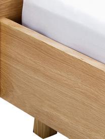 Holzbett Tammy mit Kopfteil, Gestell: Mitteldichte Holzfaserpla, Eichenholz, 180 x 200 cm