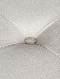 Panca bianca imbottita Chloe, Rivestimento: lino, Piedini: metallo verniciato, Ecru, crema, Larg. 83 x Alt. 56 cm