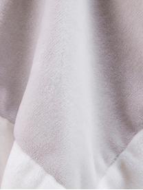 Schmusetuch Edvin, Polyesterplüsch, Grau, Weiß, Rosa, Schwarz, 35 x 35 cm