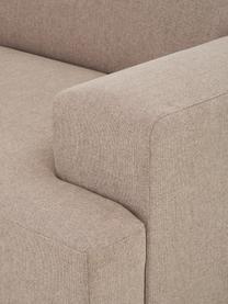 Ecksofa Melva (3-Sitzer) in Taupe, Bezug: 100% Polyester Der hochwe, Gestell: Massives Kiefernholz, FSC, Füße: Kunststoff, Webstoff Taupe, B 239 x T 143 cm