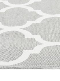 Flachgewebter Baumwollteppich Amira in Grau/Weiß, 100% Baumwolle, Hellgrau, Cremeweiß, B 160 x L 230 cm (Größe M)