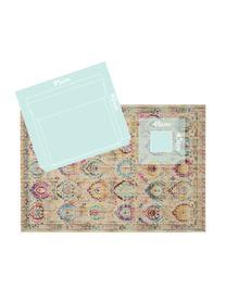 Laagpolig vloerkleed Kashan Vintage met gekleurde ornamenten, Bovenzijde: 100% polypropyleen, Onderzijde: latex, Beige, multicolour, B 270 x L 360 cm (maat XL)