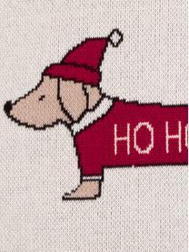 Kussenhoes Santas Little Helper met kerstmotief, Katoen, Multicolour, 40 x 40 cm