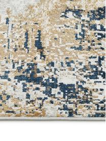 Tappeto con motivo astratto Verona, Retro: poliestere, Crema, beige, grigio, marrone, blu scuro, Larg. 160 x Lung. 230 cm