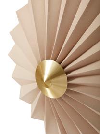 Wandleuchte Tenty aus Papier mit Stecker , Lampenschirm: Papier, Dekor: Messing, Beige, Messing, Ø 48 cm
