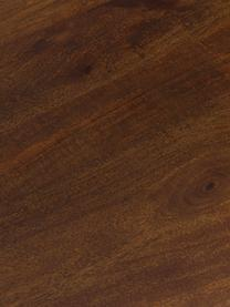 Table vintage en bois massif Oscar, Bois de manguier, laqué foncé