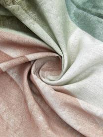 Baumwoll-Bettwäsche Hosta mit tropischem Motiv, 100% Baumwolle  Fadendichte 144 TC, Standard Qualität  Bettwäsche aus Baumwolle fühlt sich auf der Haut angenehm weich an, nimmt Feuchtigkeit gut auf und eignet sich für Allergiker, Grün, Rosa, Cremeweiß, 155 x 220 cm + 1 Kissen 80 x 80 cm