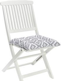 Sitzkissen Miami in Hellgrau/Weiß, Bezug: 100% Baumwolle, Grau, 40 x 40 cm