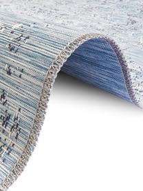 In- & Outdoor-Teppich Orient im Vintage Style, 100% Polypropylen, Blautöne, B 190 x L 290 cm (Größe L)