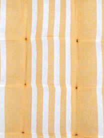 Gestreifte Sitzauflage Mandelieu in Gelb, Baumwollgemisch, Gelb, Weiß, 40 x 40 cm