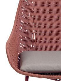 Fotel ogrodowy Abeli, Stelaż: metal ocynkowany i lakier, Tapicerka: tkanina, Blady różowy, S 68 x G 67 cm