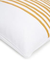 Federa arredo con righe gialla/bianca Corey, 100% cotone, Giallo, bianco, Larg. 40 x Lung. 40 cm