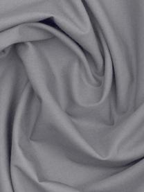 Baumwollperkal-Kopfkissenbezüge Elsie in Dunkelgrau, 2 Stück, Webart: Perkal Fadendichte 200 TC, Dunkelgrau, 40 x 80 cm
