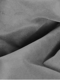 Poltrona in velluto grigio Moby, Rivestimento: velluto (copertura in pol, Struttura: legno di pino massiccio, Piedini: metallo verniciato a polv, Velluto grigio, Larg. 90 x Prof. 90 cm