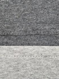 Dubbelzijdig jersey dekbedovertrek Casual Beauty, Weeftechniek: jersey, Antraciet, lichtgrijs, 220 x 240 cm + 2 kussen 60 x 70 cm
